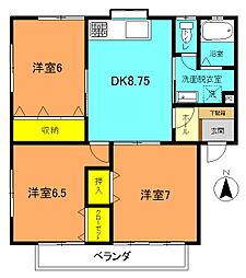 メゾン福井B[201号室]の間取り