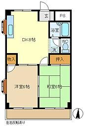サンコート 203[2階]の間取り