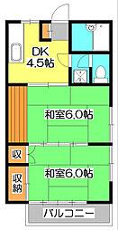 フローラルハイム[2階]の間取り