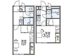 レオパレス三田ウチダ2号館[2階]の間取り