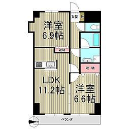 神奈川県鎌倉市大船6丁目の賃貸マンションの間取り