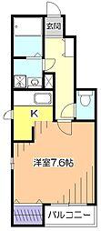 東京都小平市美園町1丁目の賃貸アパートの間取り