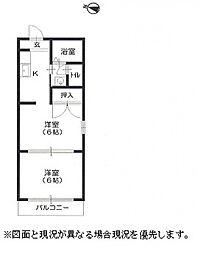 兵庫県神戸市東灘区本山北町1丁目の賃貸アパートの間取り