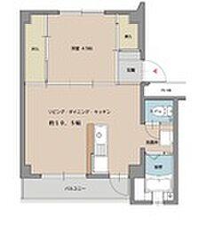 ビレッジハウス姪浜3号棟[3階]の間取り