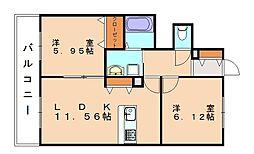 エンゼルハイム5号館[1階]の間取り