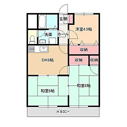 長野県飯田市高羽町3丁目の賃貸マンションの間取り