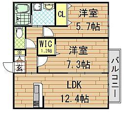 CherII(シェールツー)[2階]の間取り