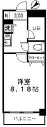 福岡県福岡市中央区渡辺通2の賃貸マンションの間取り