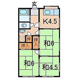 2264西沢マンション[東1号室]の間取り