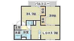 ファミール砂子[B203号室]の間取り