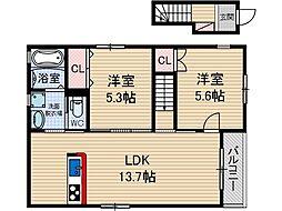 エスワイ住宅[2階]の間取り