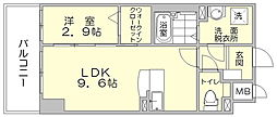 パークサイド博多駅東[4階]の間取り