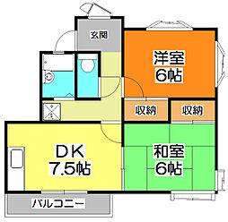 新座クリスタルコーポ[2階]の間取り