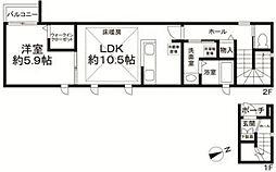 フォレスタ駒沢公園[2階]の間取り