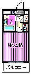 ジョイフル西川口第2[201号室]の間取り