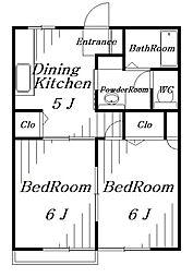 クレストブエム[2階]の間取り
