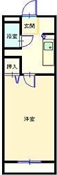 マンショングレイス[206号室]の間取り