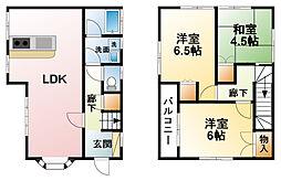 [一戸建] 千葉県東金市西野飛地 の賃貸【/】の間取り