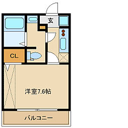 兵庫県尼崎市下坂部2丁目の賃貸アパートの間取り