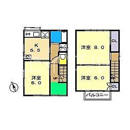[一戸建] 高知県高知市高須2丁目 の賃貸【/】の間取り