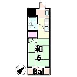 滋賀県甲賀市水口町東名坂の賃貸アパートの間取り