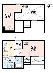 メゾン・ド・カナールII[1階]の間取り