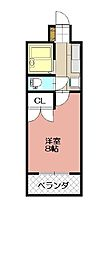 KMマンション八幡駅前III[815号室]の間取り