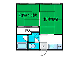 カーサ南台[1階]の間取り
