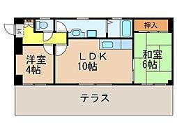 パークハイツアイリス3号館[3階]の間取り