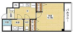 プライムコート新大阪イースト[6階]の間取り