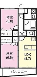 ユートピアII[3階]の間取り