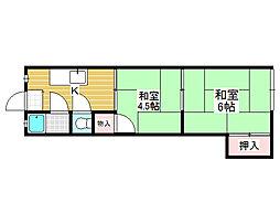橋本文化[1階]の間取り