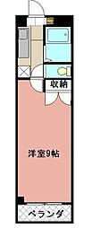 KMマンション八幡駅前II[608号室]の間取り