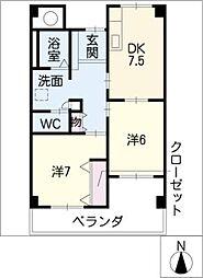 Livable CLOVER[4階]の間取り
