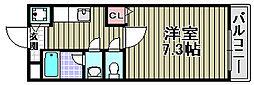 シャンテ笠松[210号室]の間取り
