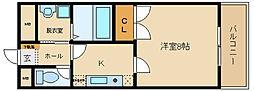 エクセル1[4階]の間取り