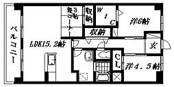 ヴィーブル東若林[4B号室]の間取り
