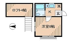 リバージュ日吉[2階]の間取り
