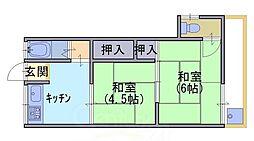 泉荘[1階]の間取り