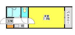 スカイコーポ21[4階]の間取り