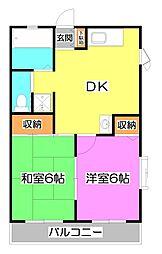 クレール45[2階]の間取り