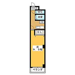 メゾンセジュール[4階]の間取り