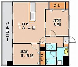 クリムゾン博多2[7階]の間取り