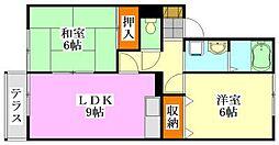 千葉県船橋市藤原3丁目の賃貸アパートの間取り