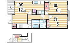 エレガント叶1[2階]の間取り