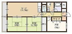 クーリエ70[205号室]の間取り