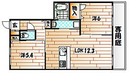 シャーメゾンナポリB棟[1階]の間取り