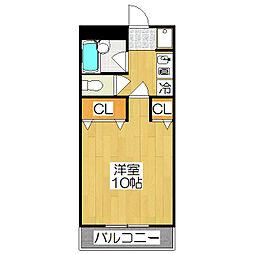 エルム松ヶ崎[104号室]の間取り