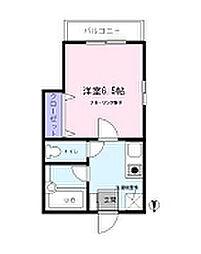 東京都世田谷区桜2丁目の賃貸アパートの間取り