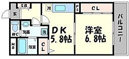 ピュアコート清水[3階]の間取り